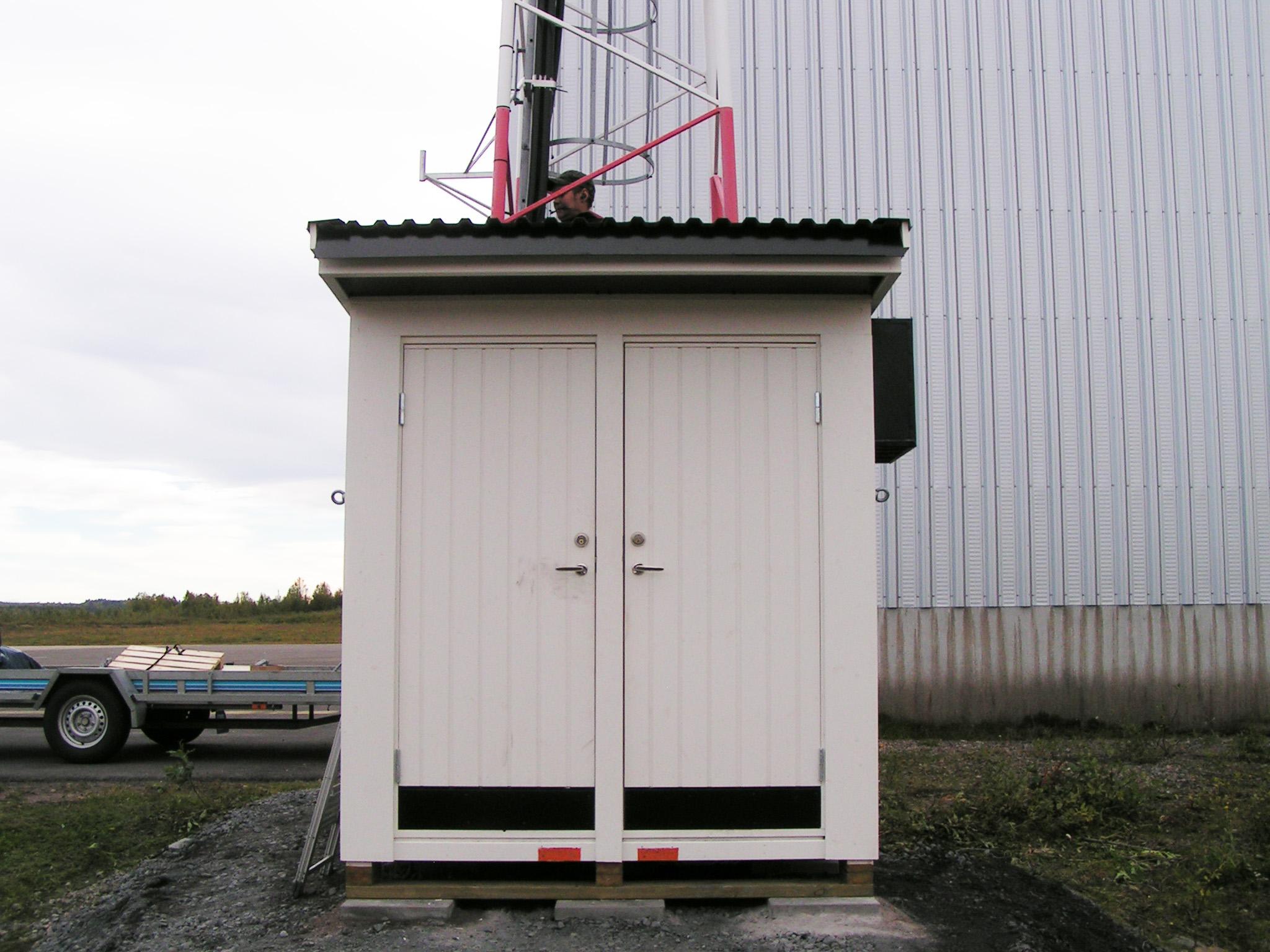 Byggd teknikbod Kiruna flygplats