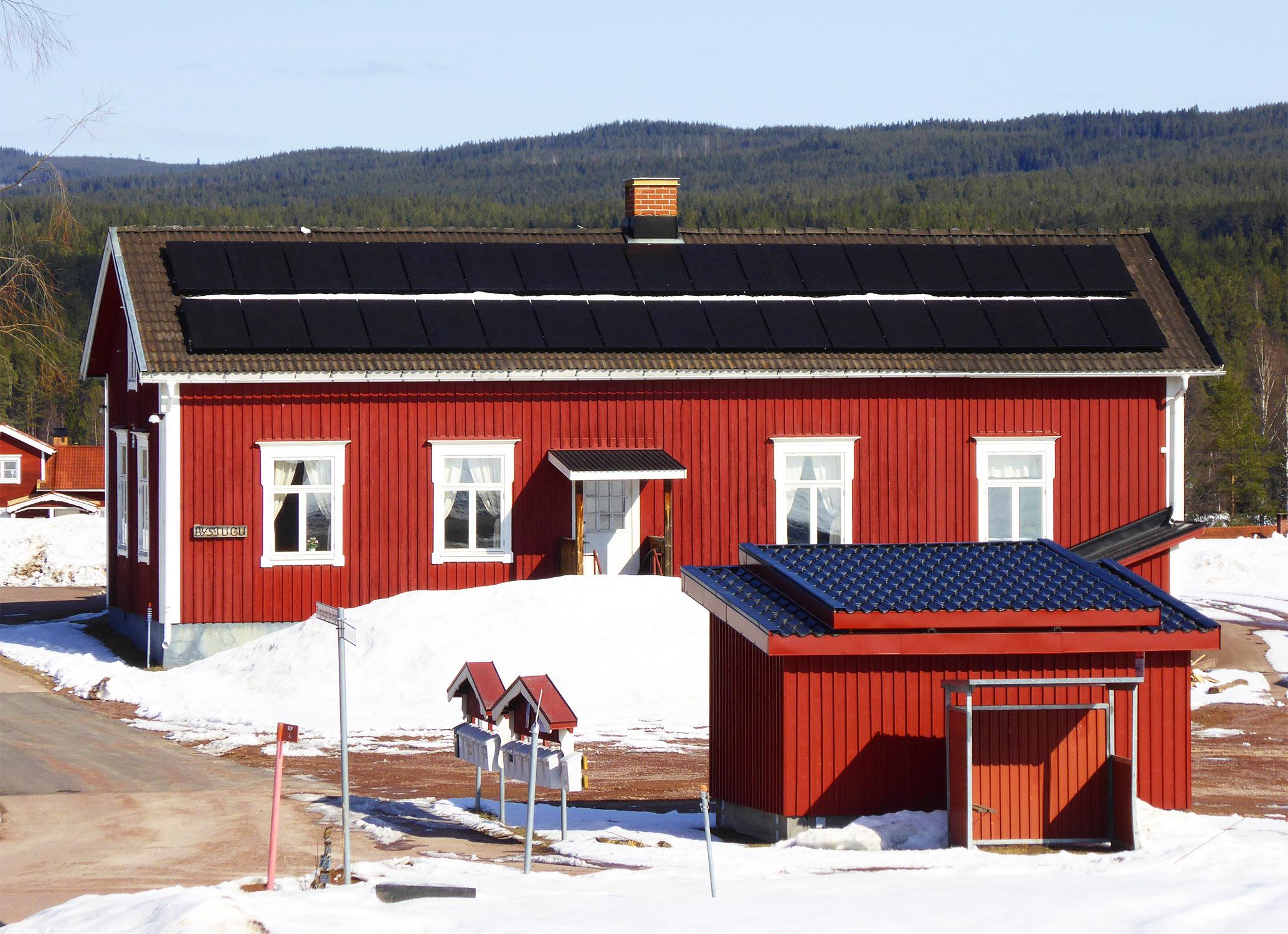 Montage av solpaneler 1